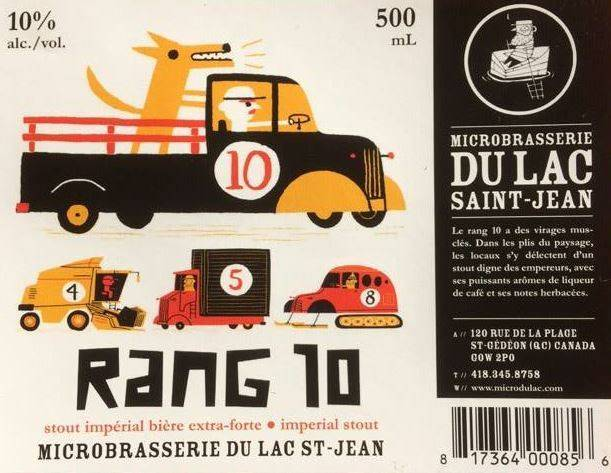 RANG 10 (MICROBRASSERIE DU LAC ST JEAN) QUEBEC